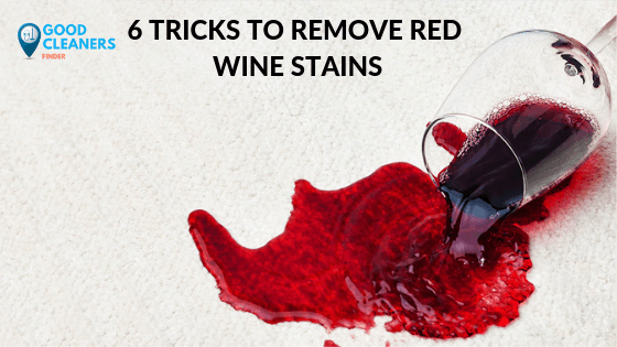 6 TRICKS TO REMOVE RED WINE STAINS